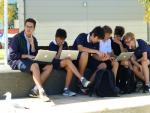 Students with apples - Perth, Western Australia