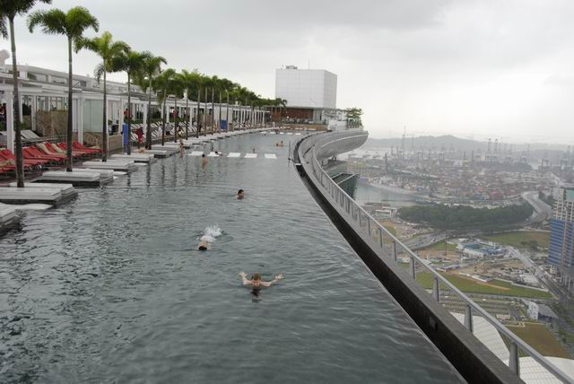 200 M Obove The Ground Swimming Pool At Marina Bay Sands Hotel Singapore