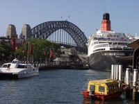 Harbour Bridge & Queen Elizabeth II - Sydney, OZ