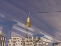 Sky Tower in the mirror - Sydney, OZ