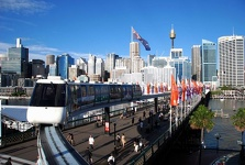Darling Harbour and Monorail - Sydney, New South Wales, Australia