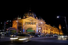 Flinders Station by night - Melbourne, Victoria, Australia