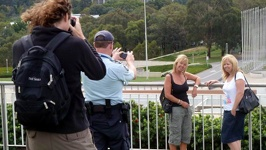 Photosession on the roof - Parliament House, Canberra, ATC, Australia