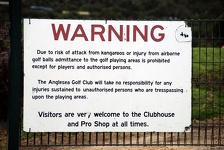 Visitor Warning - Anglesea Golf Club, Great Ocean Road, Victoria, Australia