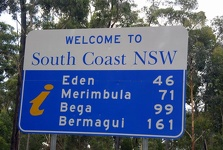 Welcome Sign to NSW - New South Wales, Australia