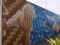 Beautiful mural - Motueka, Nelson Area, South NZ