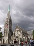 Grey in grey - Cathedral of Christchurch, South NZ