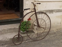Historic bicycle - Oamaro, Waitaki District, South NZ