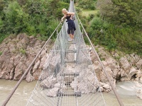 NZ's longest Swingbridge - Buller Gorge, Nelson District, South NZ