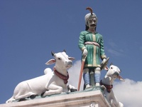 Holy cows in the sky -  Sri Mariamman Temple, Singapore