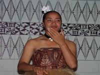 Tongan Dancer - National Center of Tonga, Nukua'lofa
