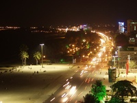Beachfront by night - Nha Trang, Southern Vietnam