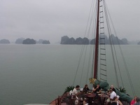 Breakfast on Dragon's pearl - Halong Bay, Gulf of Tonkin, Northeast Vietnam