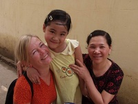 Hil & Quyen & Thu - Visiting the Foster Child, Hoang Van Thu, Hanoi, Vietnam