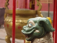 Little guard of the temple - Thong Bao Temple, Chinatown, Saigon, Vietnam
