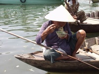 Lunch break - Floating market Hoi An, Central Vietnam