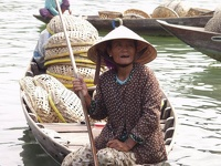 Old fishing woman - Thu Bon River, Hoi An, Central Vietnam