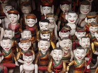 Smiling faces - Water Puppets, Old Quarter, Hanoi, Vietnam