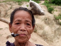 Van Kieu woman - tribal people of Khe Sanh, DMZ, Central Vietnam
