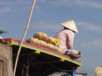 Waiting for Costumers - Mekong Delta, Cai Rang floating market, Can Tho, South Vietnam