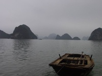 Wooden Dinghi - Halong Bay, Gulf of Tonkin, Northeast Vietnam