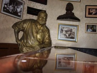 The old man and the bar - statue of Hemingway, Bar El Floridita, Old Havana, Cuba