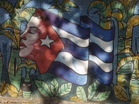 where you want to go, Cuba ?? - mural art in Plajas del Este, Havana, Cuba