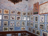 famous visitors on the wall -  Bar La Bodeguita del Medio, Old Havana, Cuba