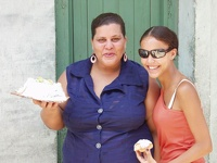 having fun with a cake - Old Havana, Cuba