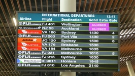 Airport schedule - International Airport Nadi Fiji Islands