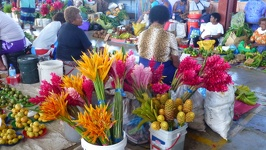Colourful flowers - Local market City of Lautoka Fiji Island Viti Levu