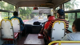 Driving in a local bus - Nadi Fiji Island Viti Levu
