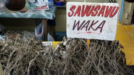 Fijian Drugs - Kawa roots on the local market City of Lautoka Fiji Island Viti Levu