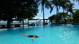Floating in the pool - Anchorage Beach Resort Fiji Island Viti Levu