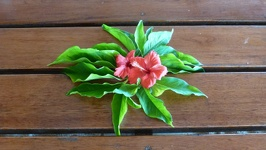 Hibiscus decoration - Beachcomber Island Mamanuca Group Fiji Islands
