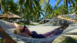 Ralaxing in a gently swaying hammock - Club Fiji Resort Fiji Island Viti Levu