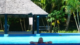 Refreshing dip - Anchorage Beach Resort Fiji Island Viti Levu