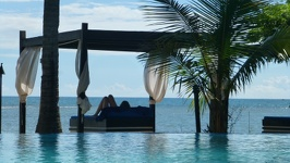 Sunbed in water - Anchorage Beach Resort Fiji Island Viti Levu