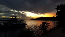Sunset on Sapphire Bay - Anchorage Beach Resort Fiji Island Viti Levu