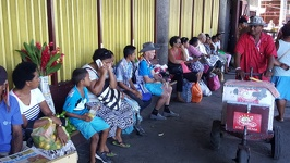 Waiting for the bus - Local market City of Lautoka Fiji Island Viti Levu