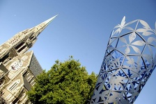 Chalice and ChristChurch Cathedral  - Christchurch, NZ