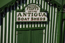 Green and White - Antigua Boat Sheds, Christchurch, NZ