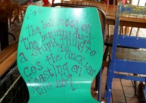Arty Chair - Fat Dog Cafe, Rotorua, Central Northland, NZ