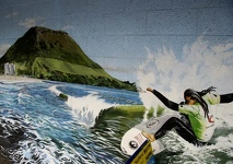 Mural in Mountmaunganui - Bay of Plenty, North NZ