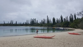 Beach at our doorstep - Kuto beach Ile des Pins New Caledonia