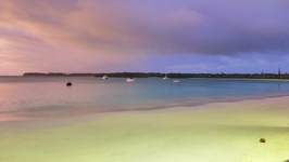 Colourful beach view while having diner - Kuto beach Ile des Pins New Caledonia