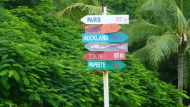 Sign in the middle of nowhere - Kuto beach Ile des Pins New Caledonia