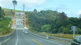 Colourful bridge - Waikato River Taupo Region North New Zealand