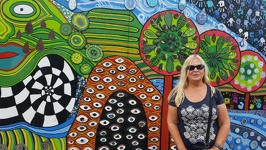 Mural with lady - Kawakawa Northland Region North New Zealand