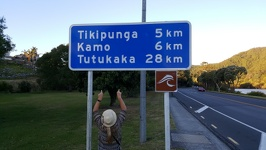 Road Sign - Titipunga and Tutukaka Northland Region North New Zealand